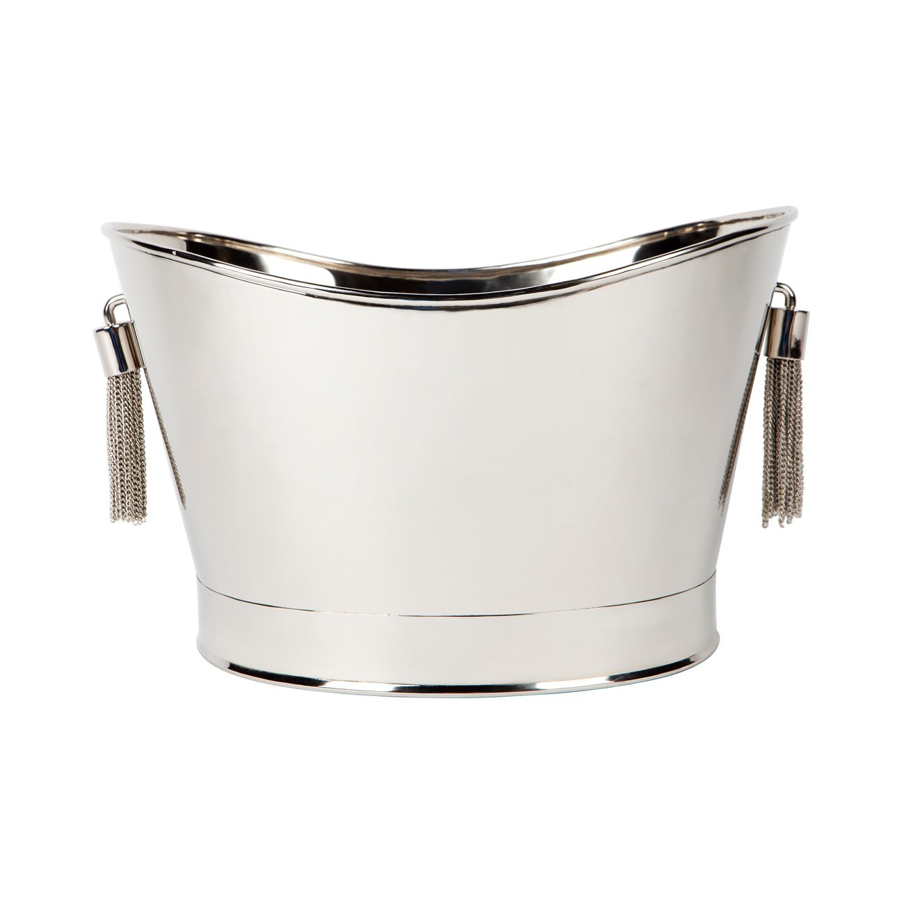 Tassell Stainless Steel Champagne Bucket, Silver