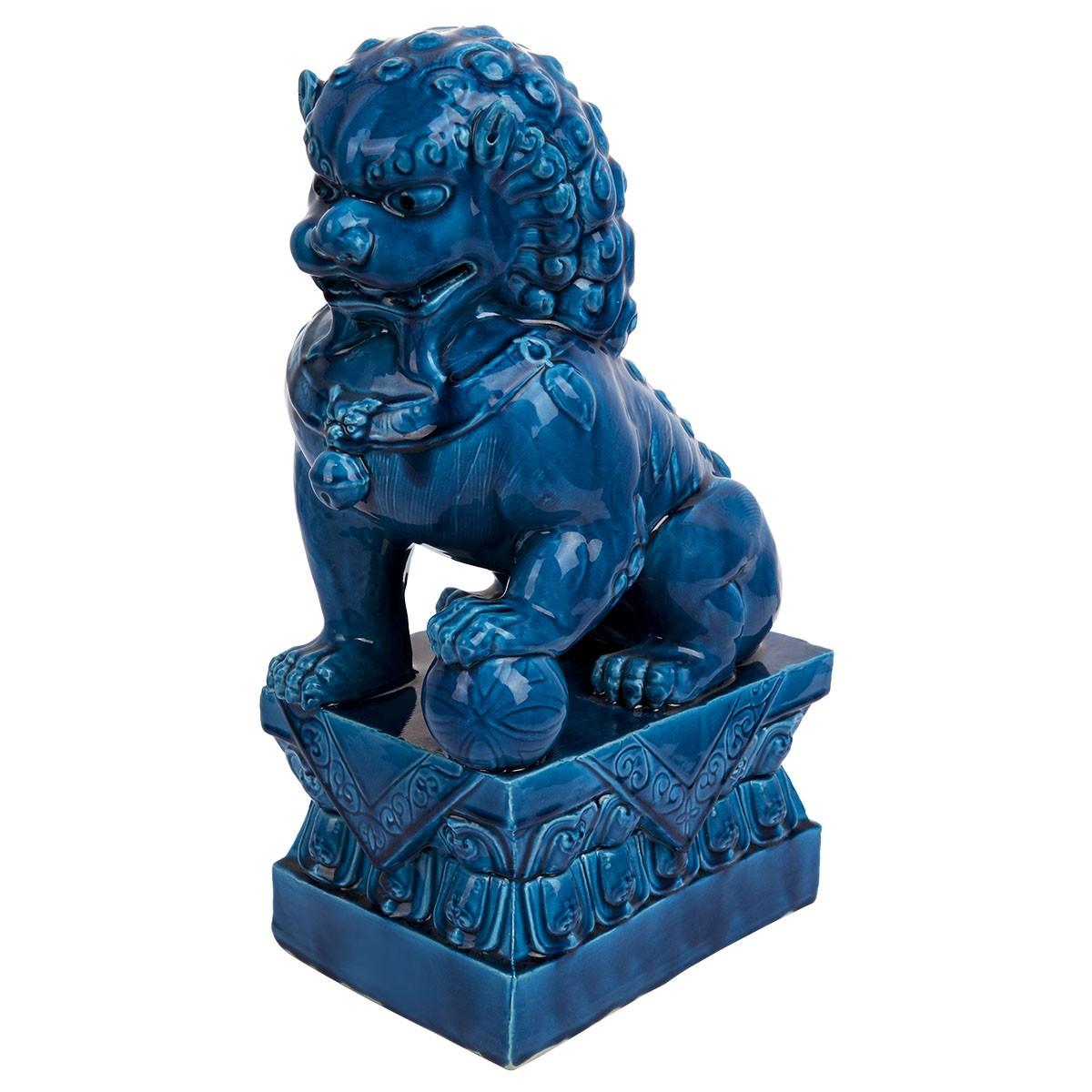 Choo Ceramic Lion Sculpture