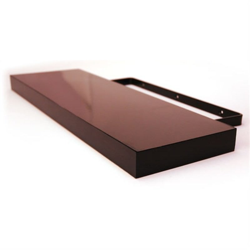 High Gloss Floating Shelf  in Chocolate