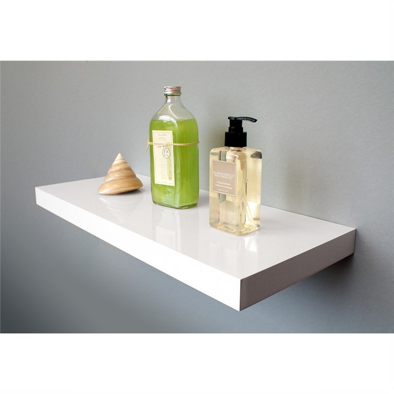 High Gloss Floating Shelf  in White