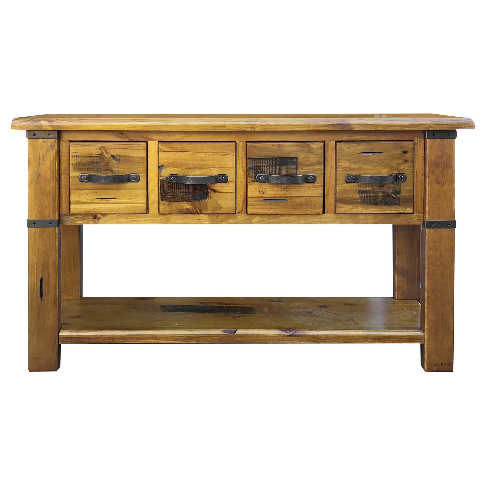 Menora Pine Timber Hall Table, 136cm