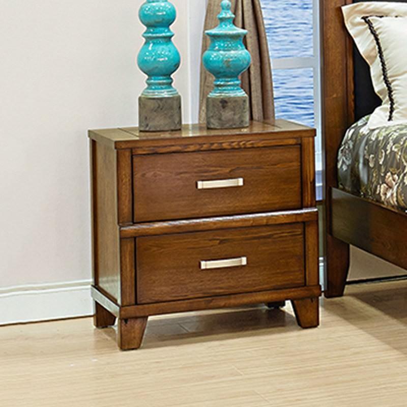 Holmwood Solid Ash Timber 2 Drawer Bedside Table