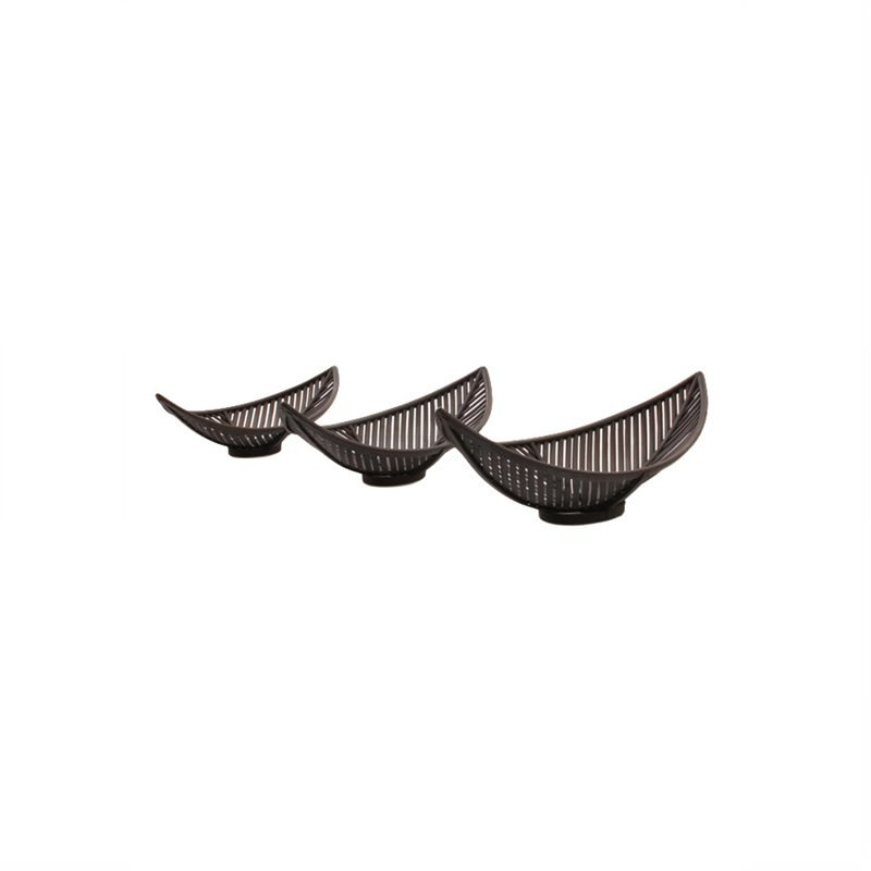 S/3 X-Large Bamboo Boats