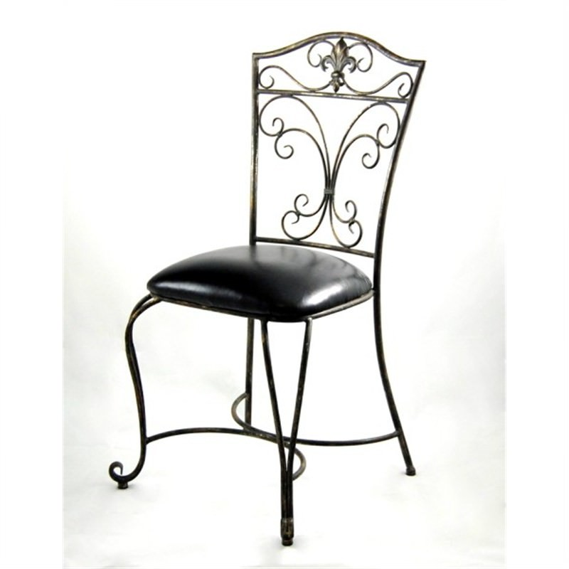 Metal Cushioned One Piece Cafe Chair