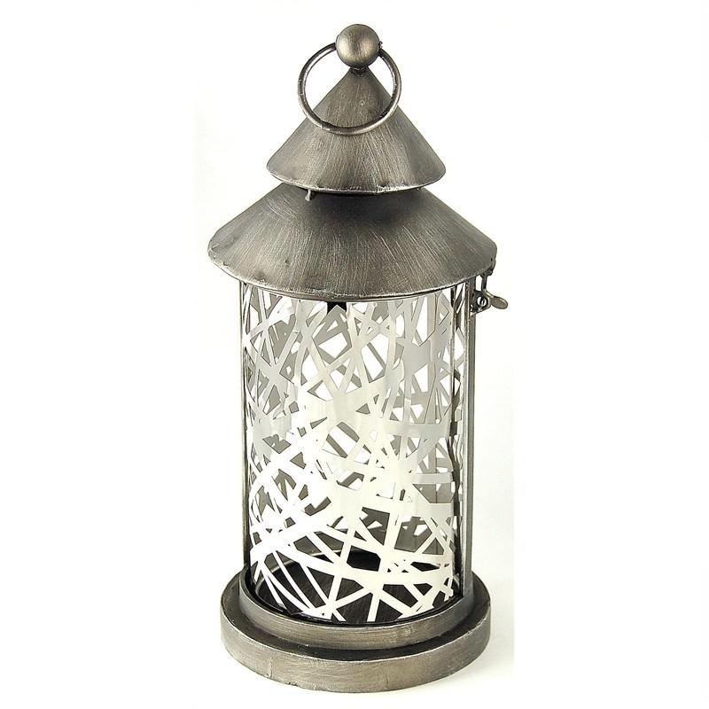 Metal Lantern W/Glass Insert