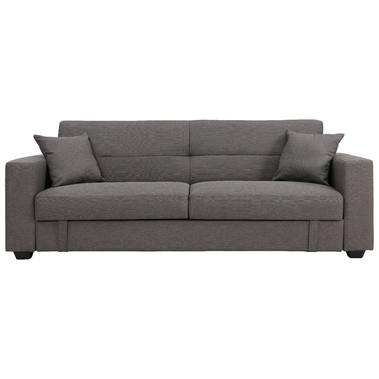 Erica Fabric Click Clack Sofa Bed, Grey