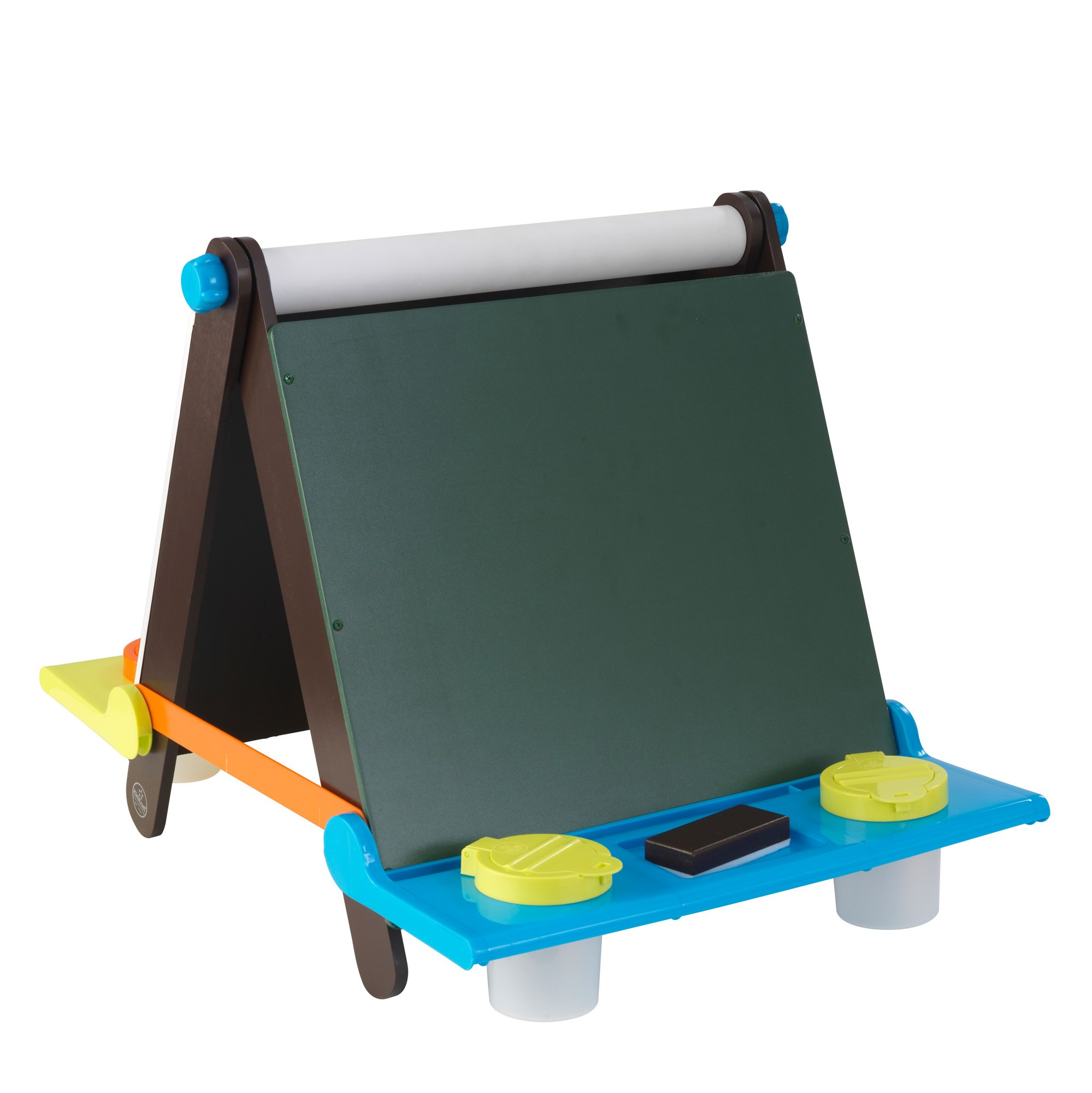 KidKraft Tabletop Easel, Espresso with Brights