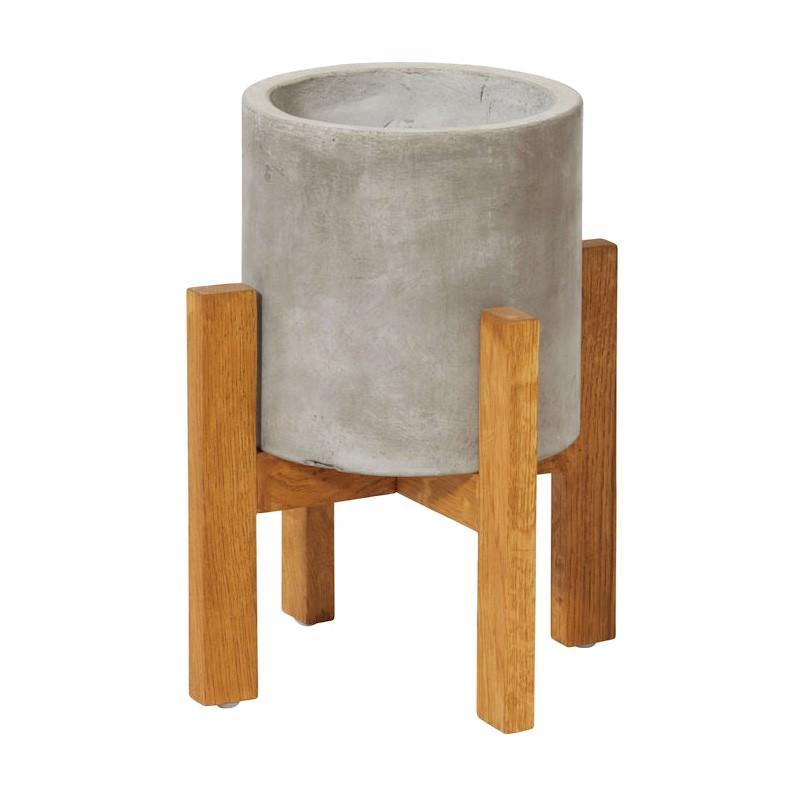 Boston Concrete Planter Stand, Small, Grey