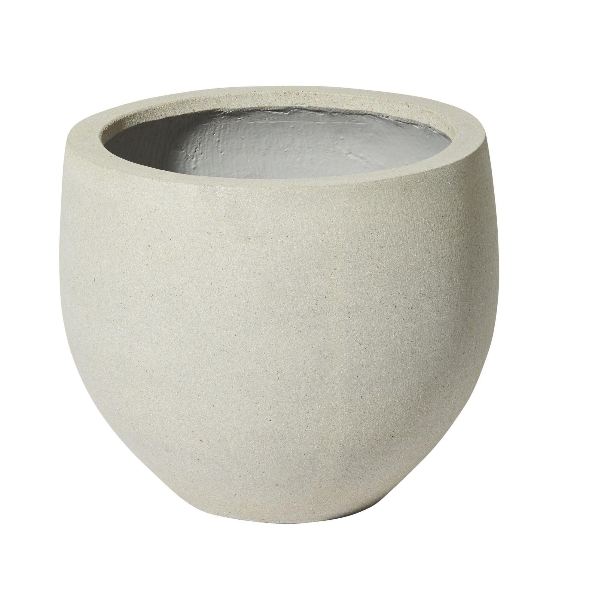 Angus Ficonstone Planter, Medium, Light Grey