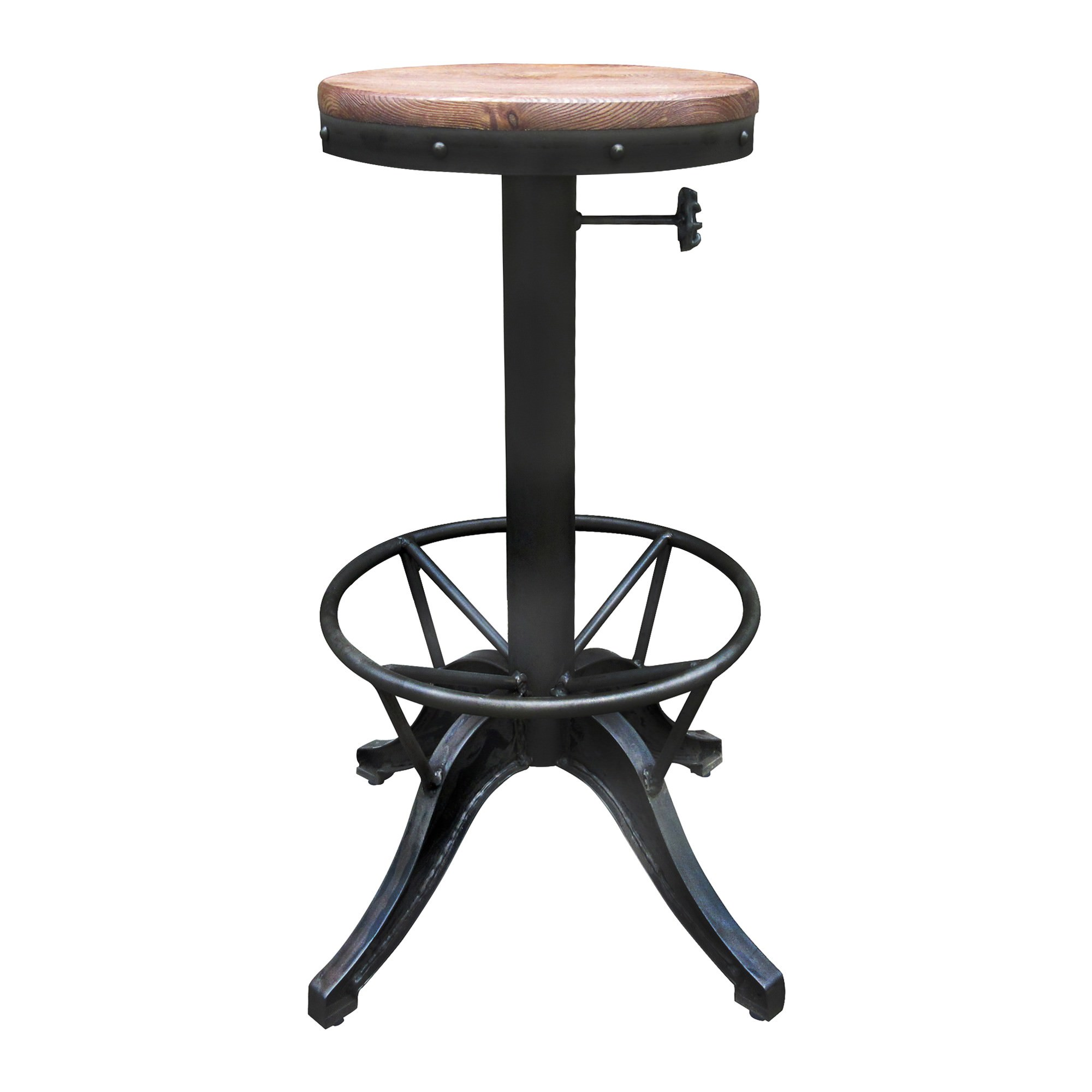 Bromham Commercial Grade Industrial Steel Bar Stool