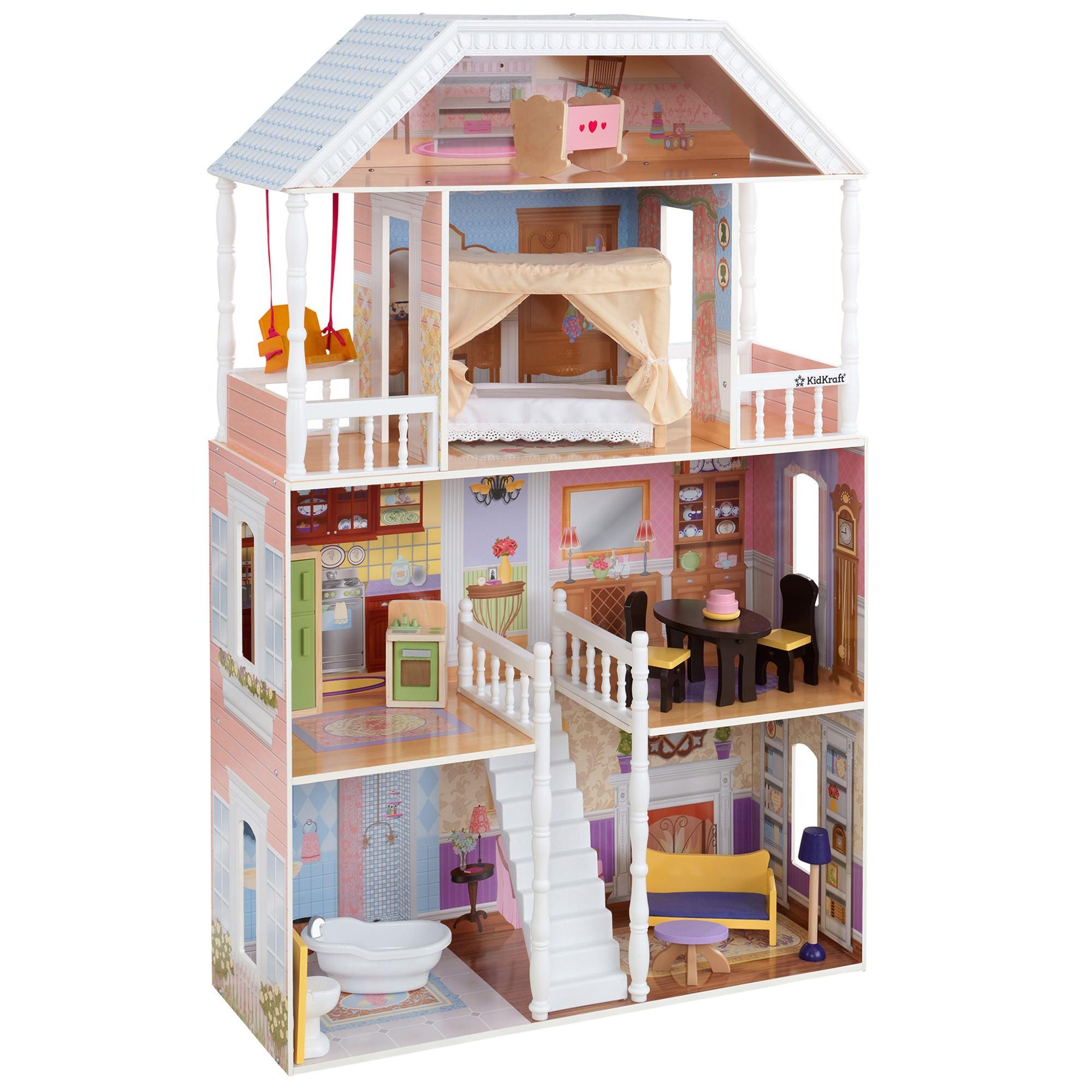Kidkraft New Savannah Dollhouse (14 pc furniture)