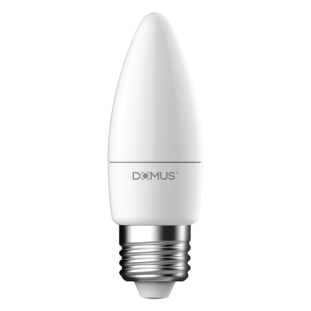 Key Dimmable LED Globe, E27, 2700K, Candle Shape, Frosted