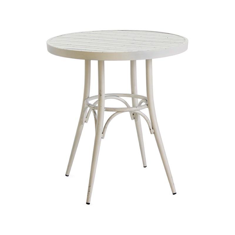 Tiona Commercial Grade Aluminium Indoor / Outdoor Round Dining Table, 70cm