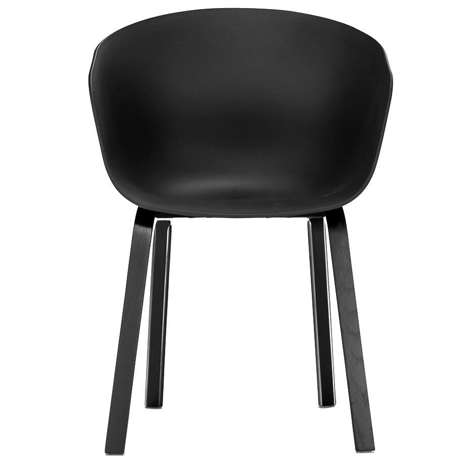 Replica Hay Scoop Dining Chair, Black