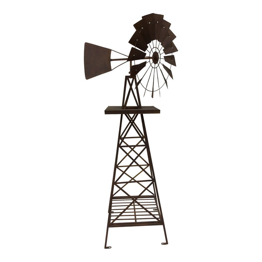 Howell Rustic Iron Windmill, Extra Large
