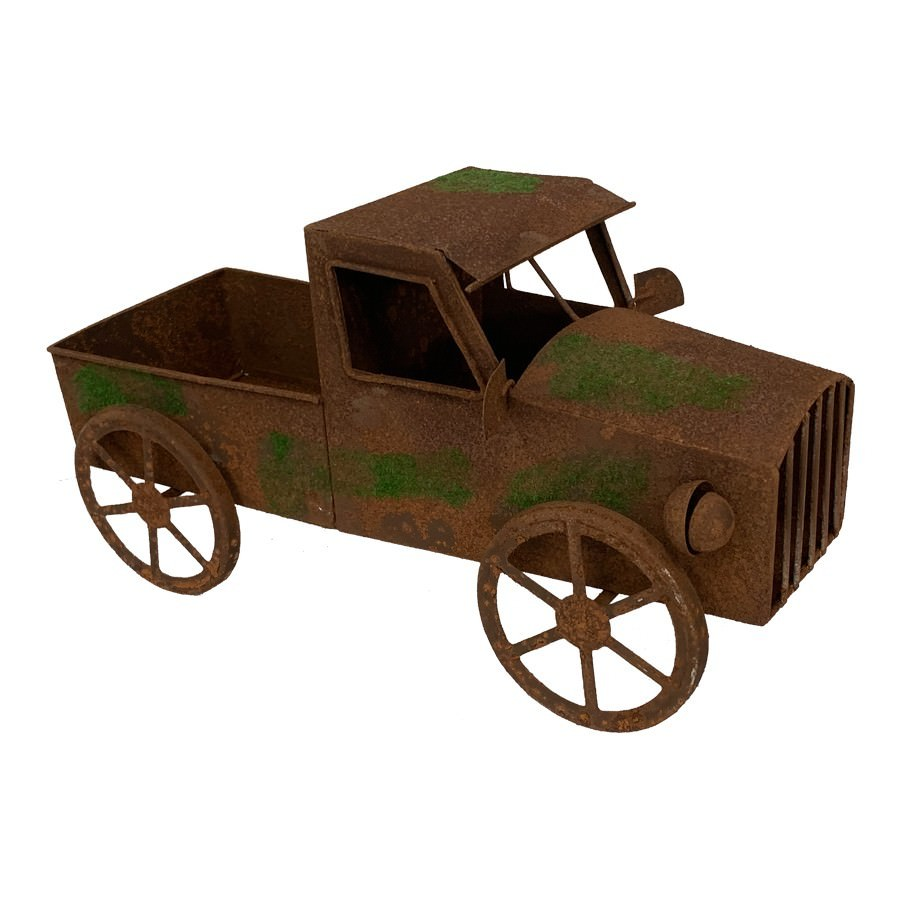 Soto Rustic Iron Truck Garden Decor