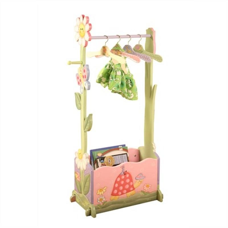 Teamson Magic Garden Clothing Rack Include 4 Hangers