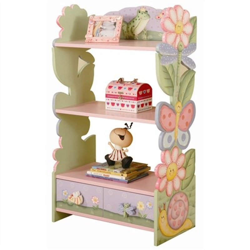 Teamson Magic Garden Book Shelf With Drawer
