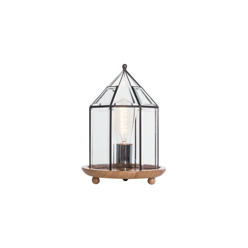 Buckton Metal & Glass Table Lamp, Round, Black