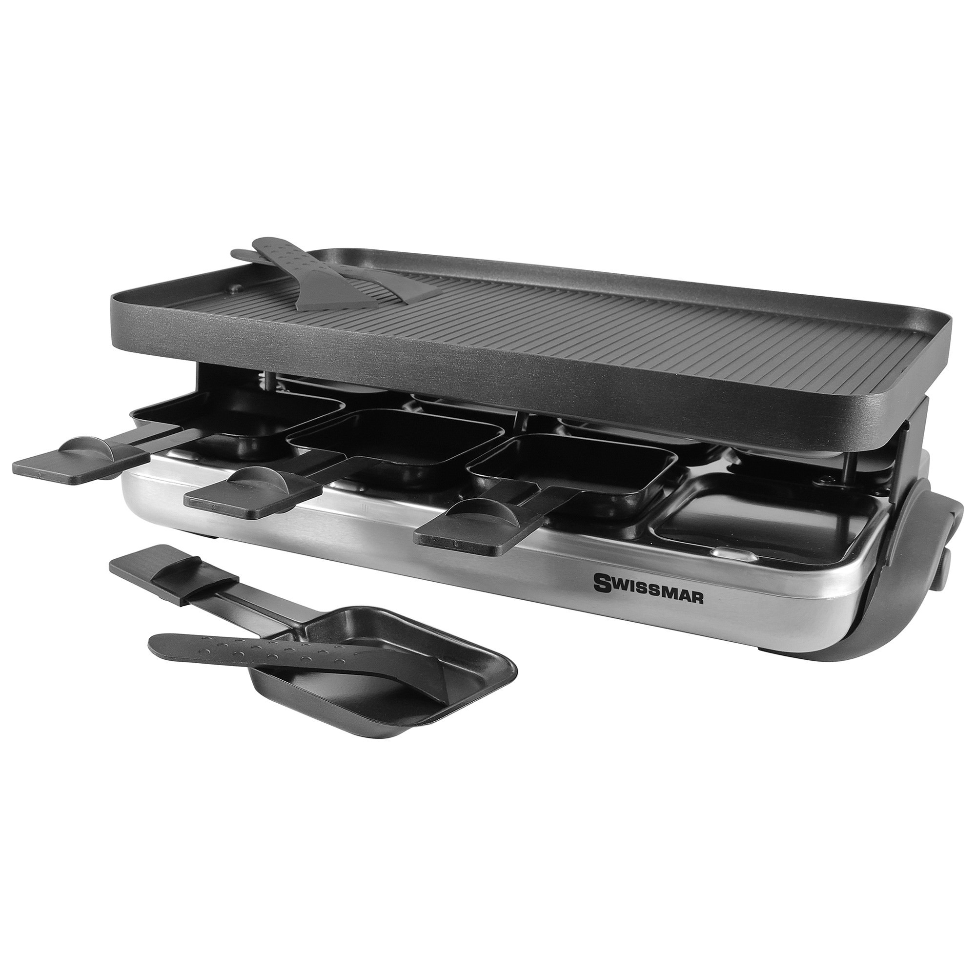 Swissmar Classic 8 Person Raclette Grill with Non-stick Grill