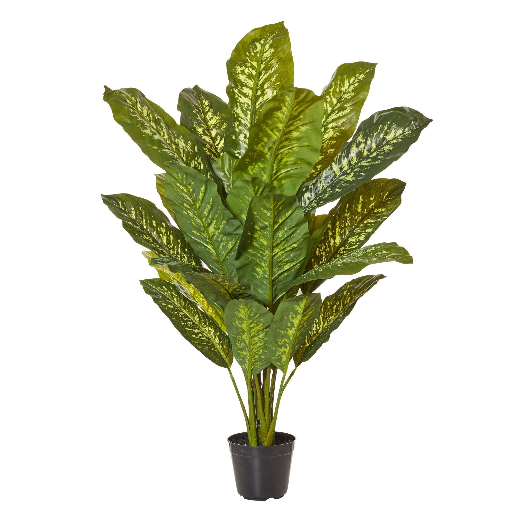 Potted Artificial Dieffenbachia Plant, 112cm