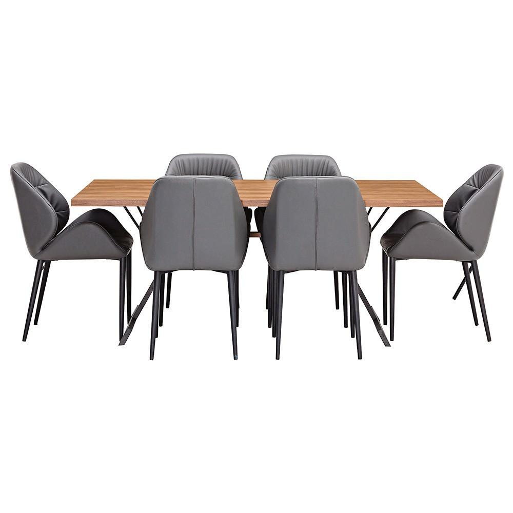 Paddington 7 Piece Dining Table Set, 180cm