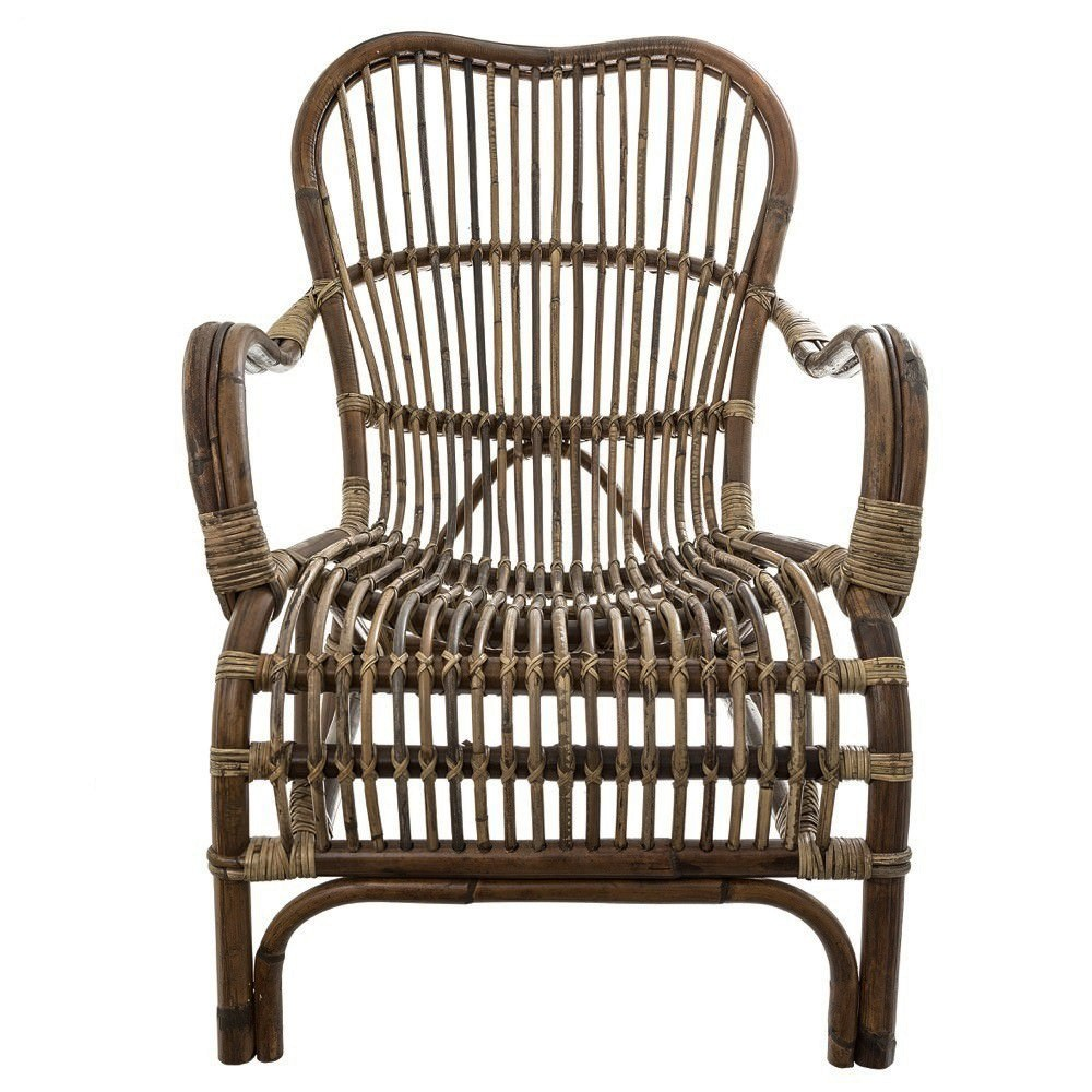 Seville Rattan Lounge Armchair, Natural
