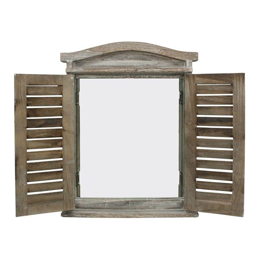 Lorette Shutter Frame Wall Mirror, 52cm