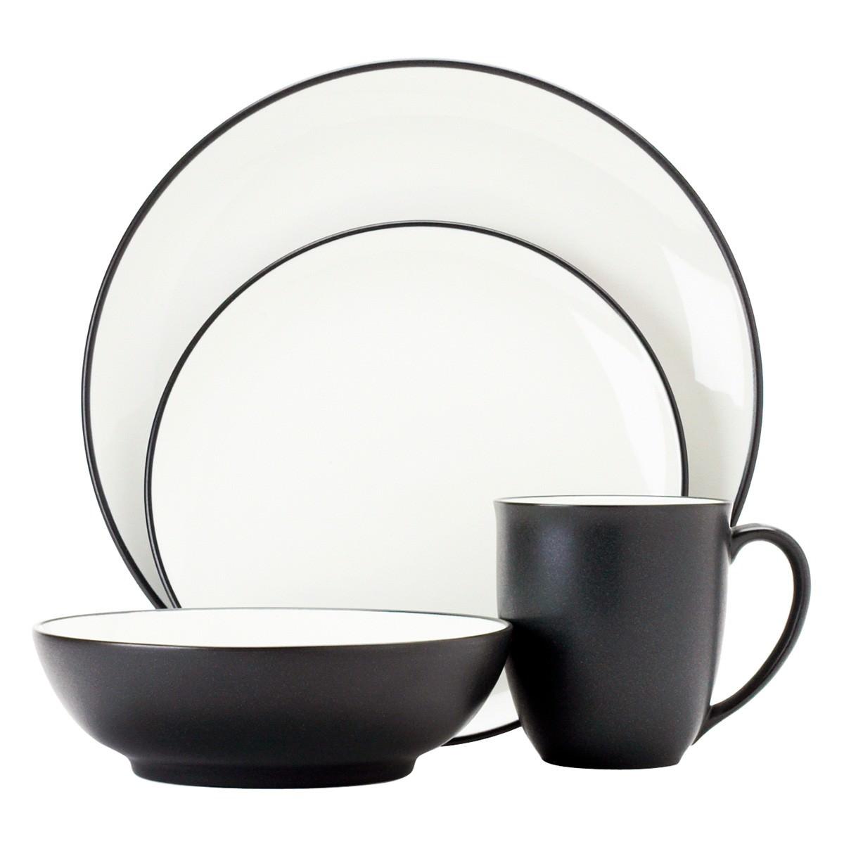Noritake Colorwave Graphite 16 Piece Stoneware Dinner Set