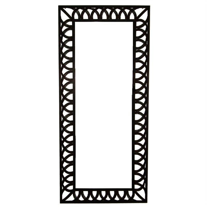 Rectangular Mediterranean Design Heavy Gauge Iron Mirror With Bevelled Glass