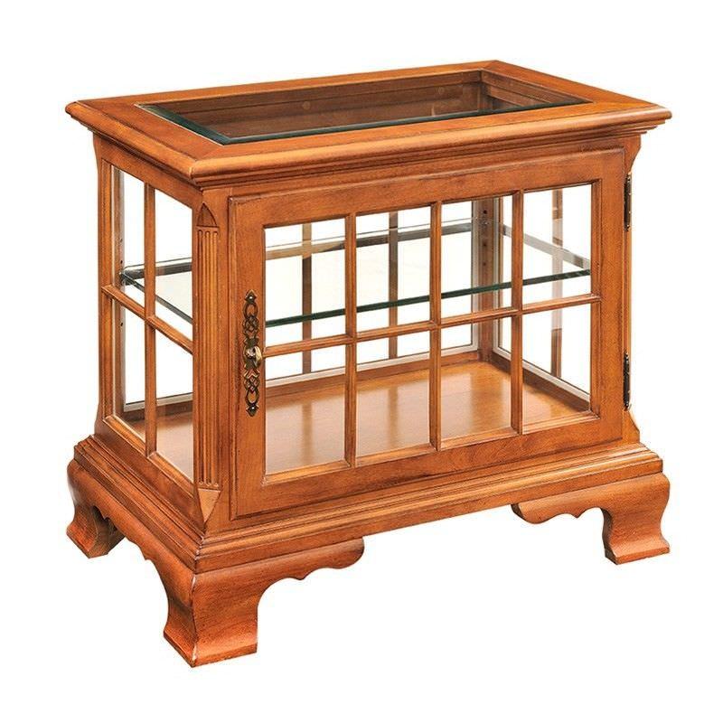 Goethe Alder Timber Curio End Table