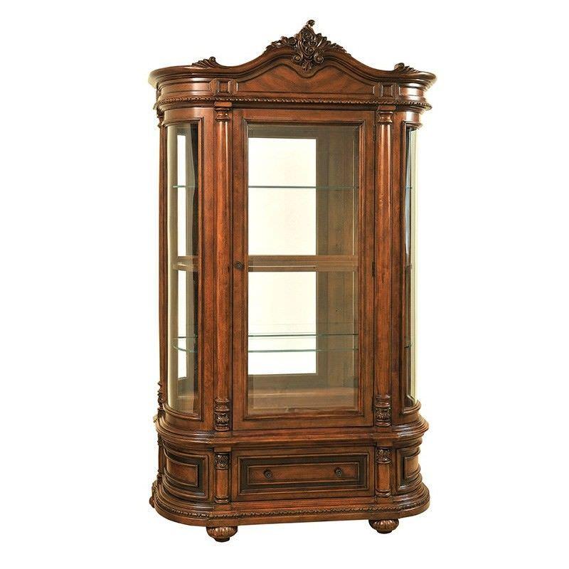 Caesar Birch Display Cabinet - 222cm