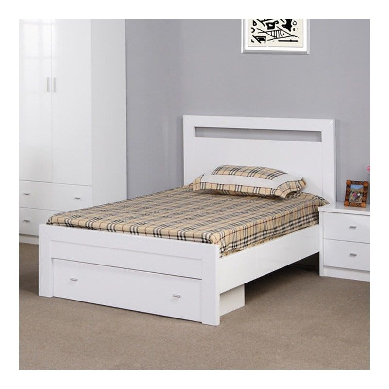 Venus Bed with End Drawer, King Single