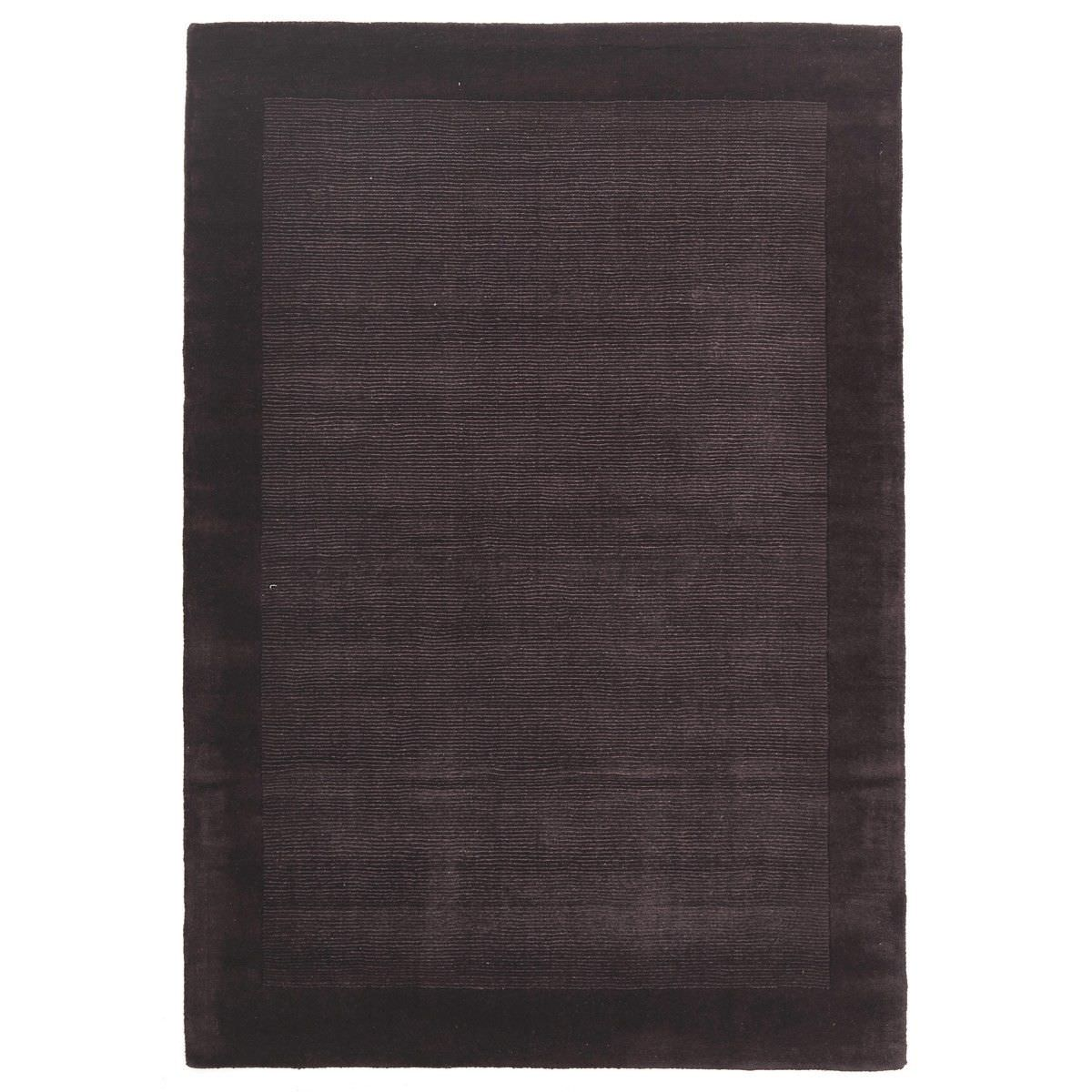 Luxe Hand Tufted Wool Runner Rug, 225x155cm, Eggplant