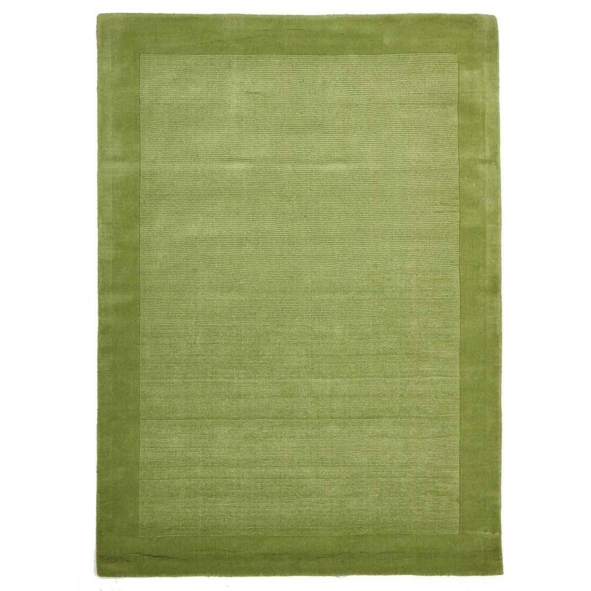 Luxe Hand Tufted Wool Runner Rug, 225x155cm, Pistachio