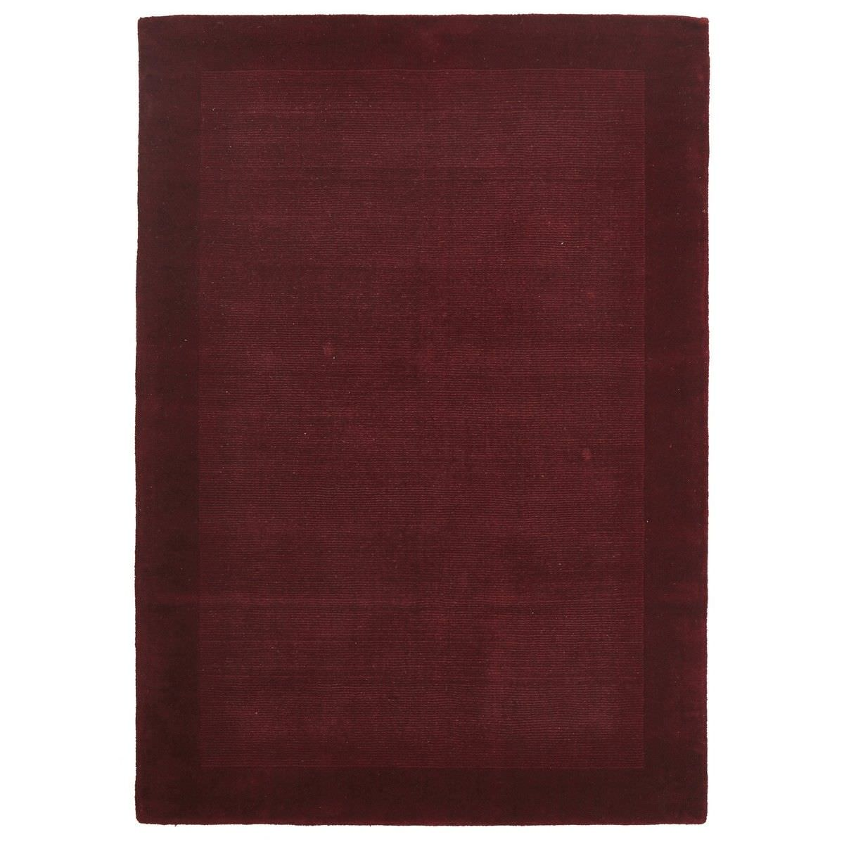 Luxe Hand Tufted Wool Runner Rug, 225x155cm, Red