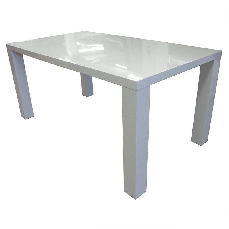 High Gloss White Dining Table - 120cm