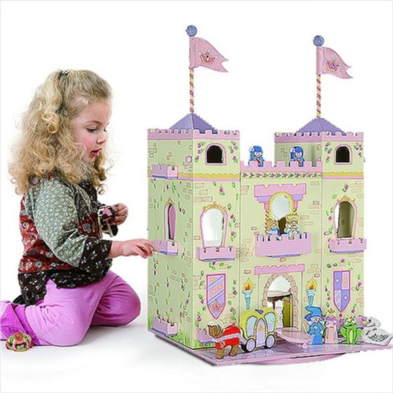 Teamson Dolls House Play Castle With Characters and Furniture