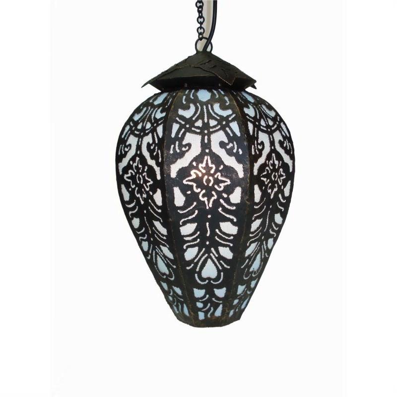 Hanging Lamp Tulip 40cm Blue