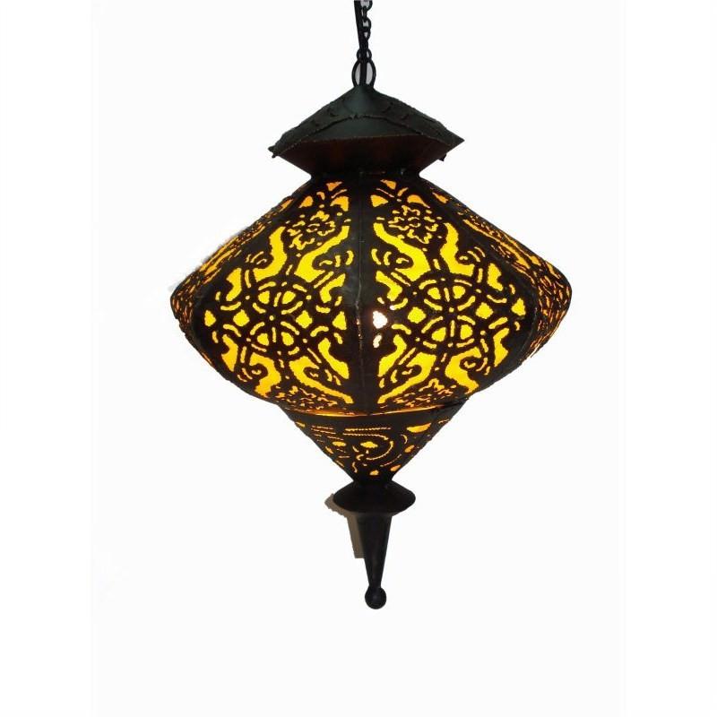 Hanging Lamp Elip 45cm Yellow
