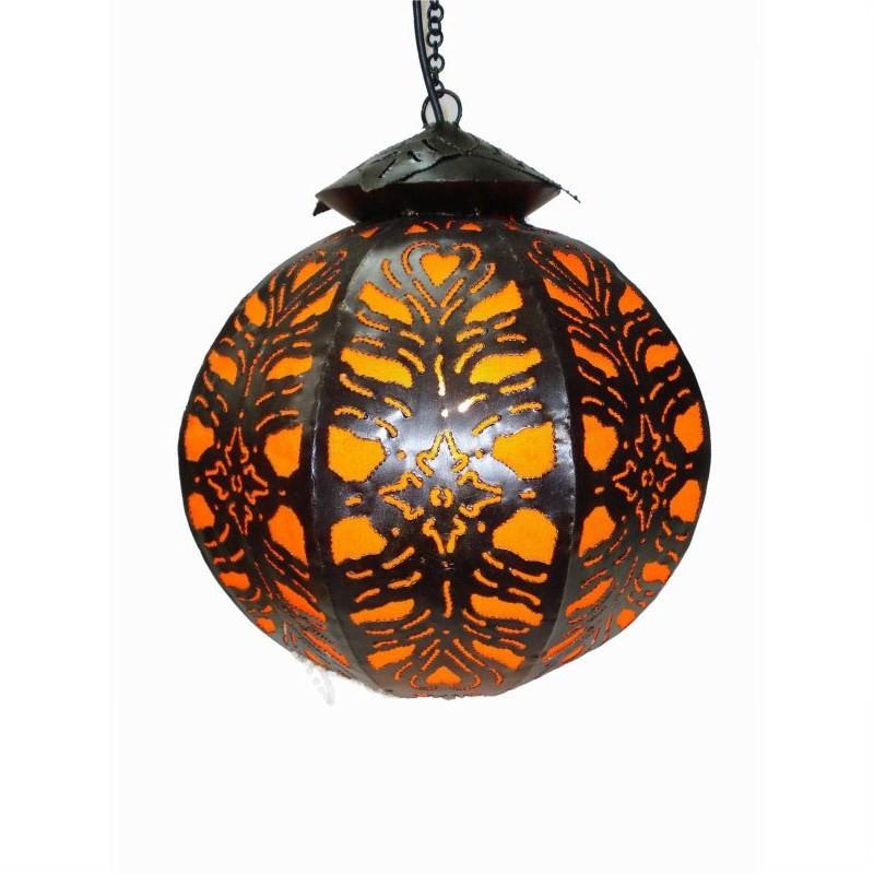 Hanging Lamp Ball 45cm Orange