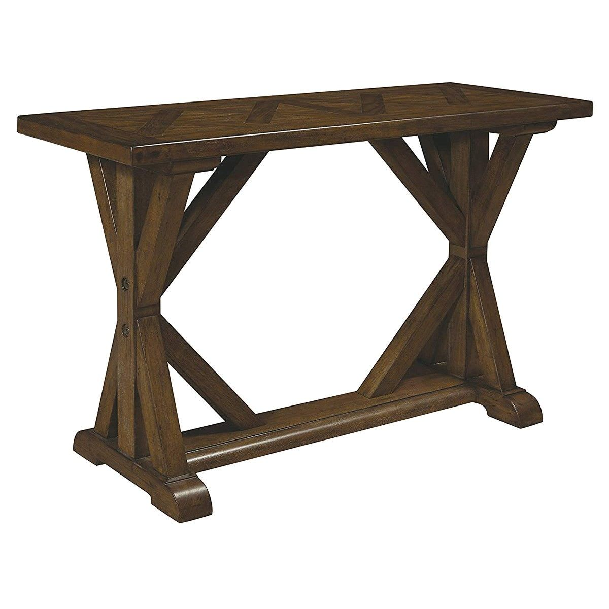 Weiterswiller Oak Timber Sofa Table, 127cm