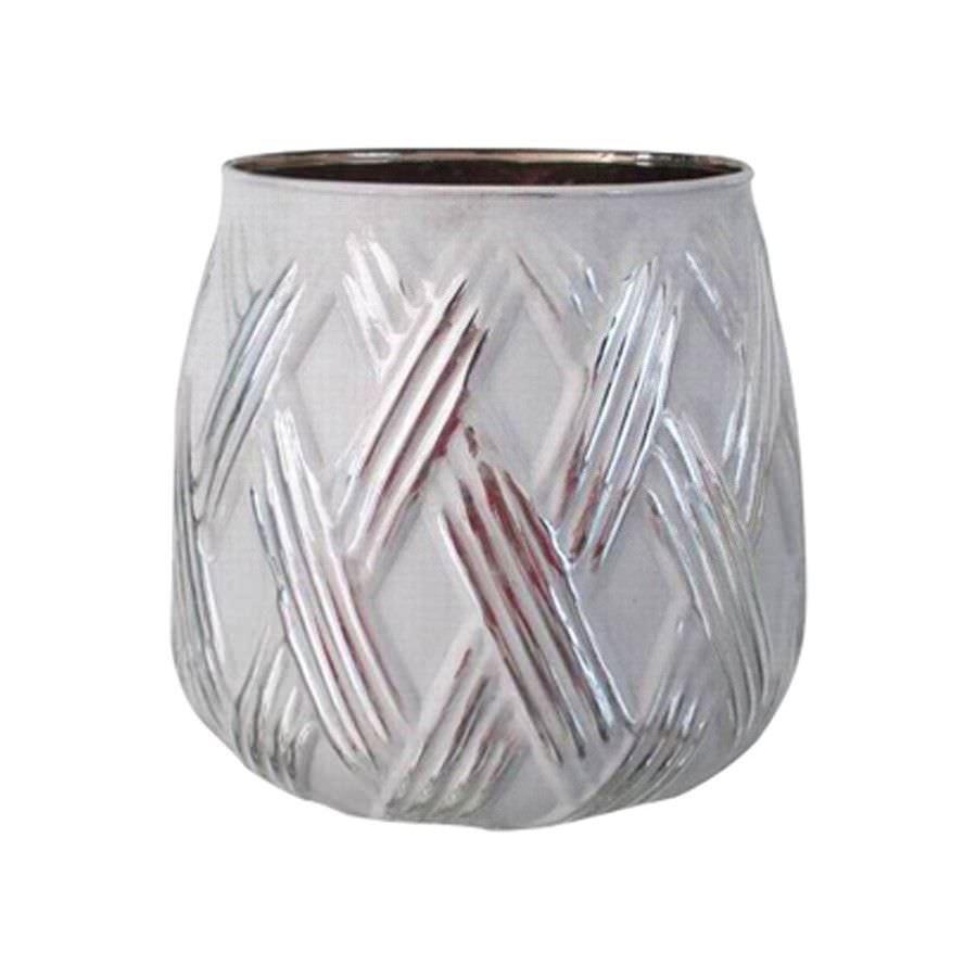 Bowna Glass Tealight Holder, White