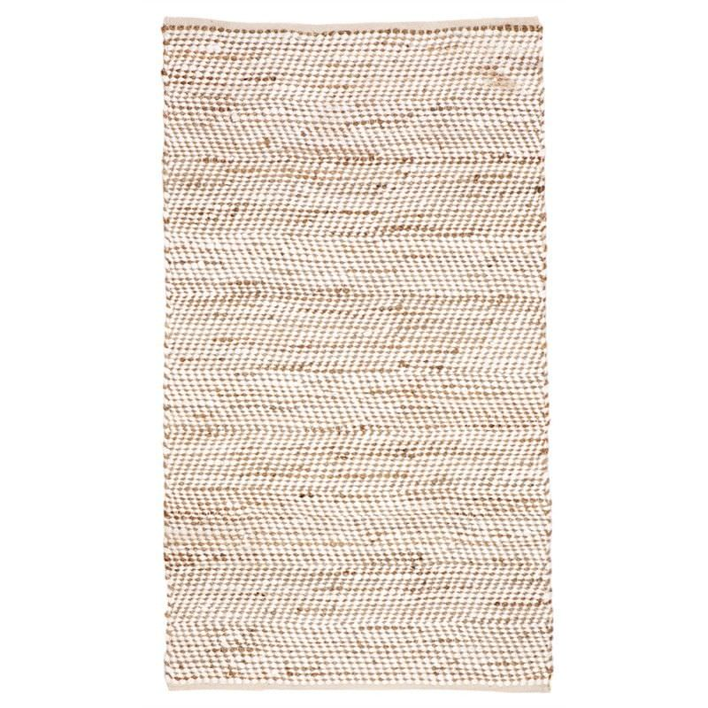 IBIS Hand Woven 90x150cm Cotton and Jute Rug - White/Natural