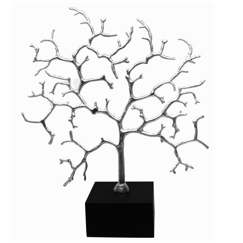 Brass Jewellery Tree With Mdf Base