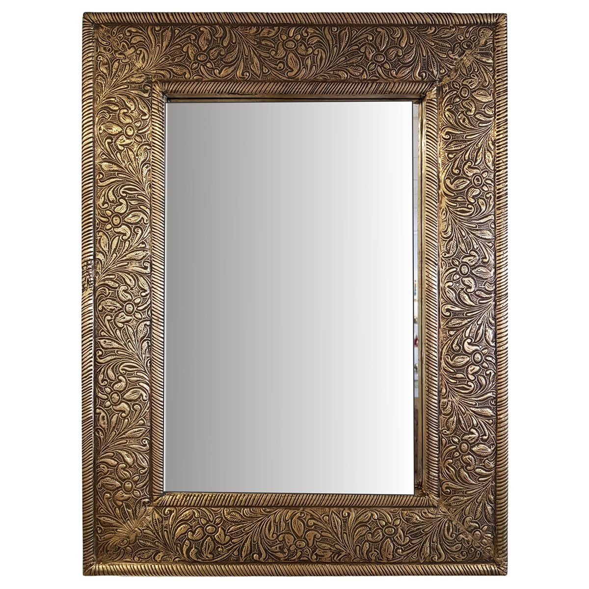 Senza Handcrafted Wooden Frame Wall Mirror, 61cm