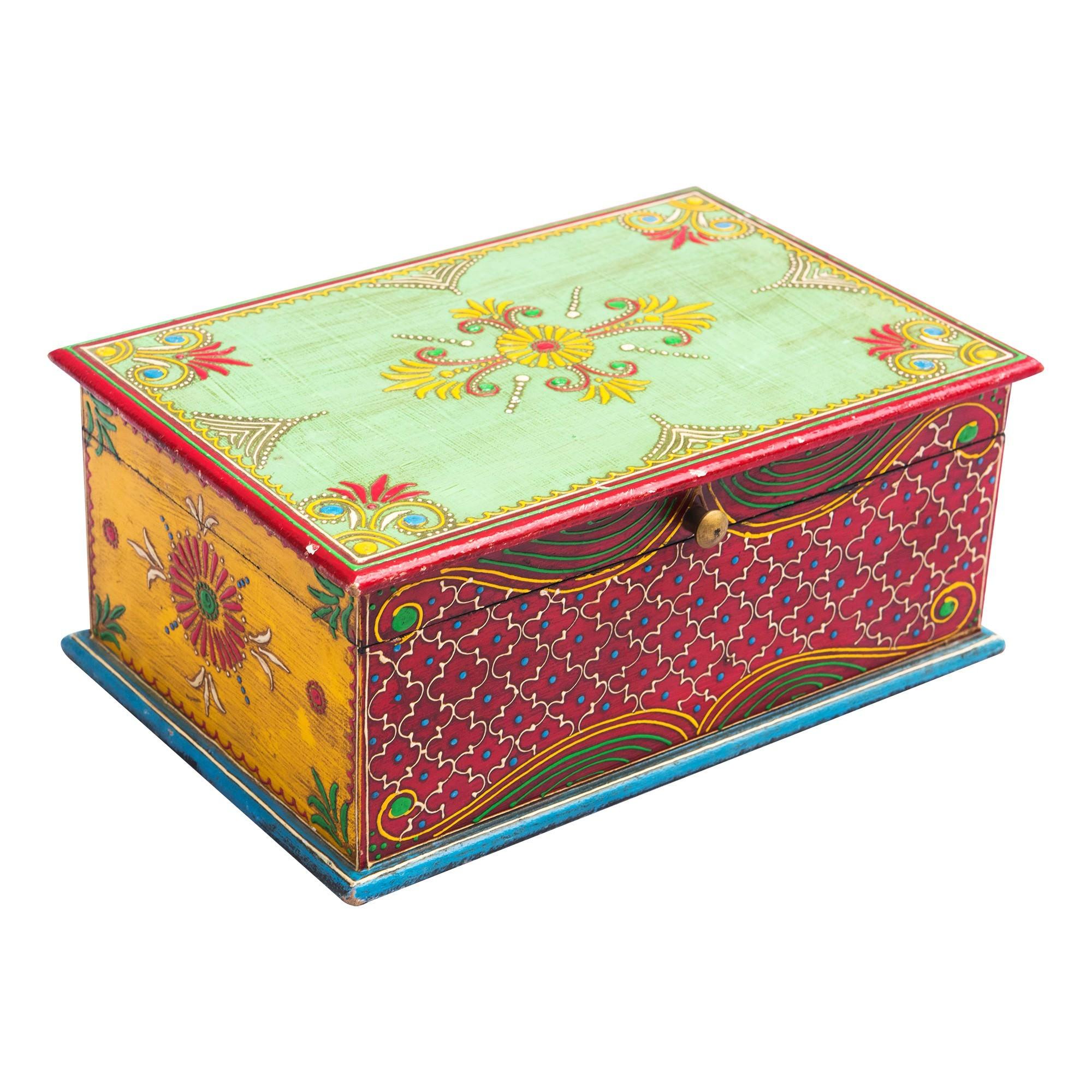 Nuga Painted Wooden Storage Box