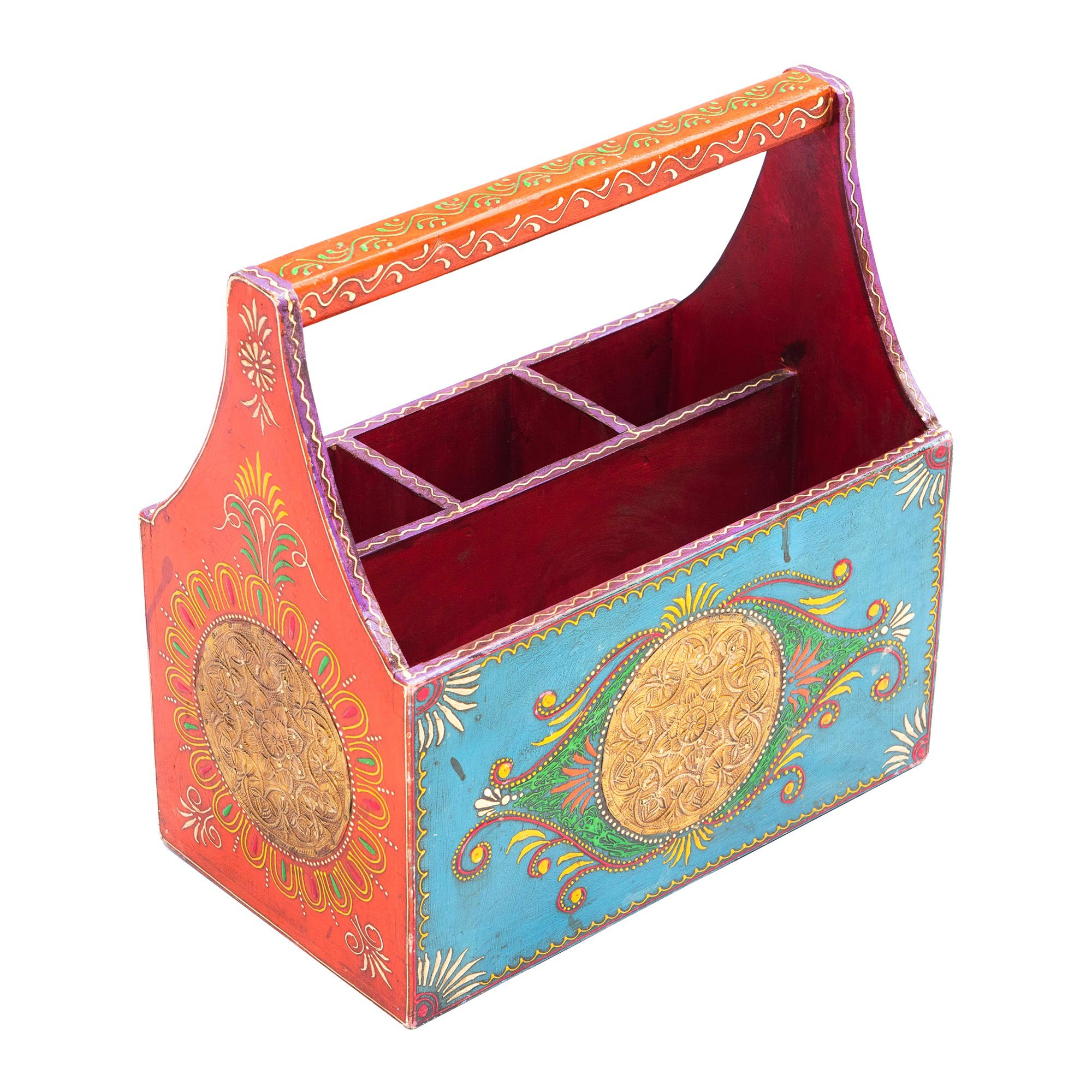 Rivista Hand Painted Timber Cutlery Holder