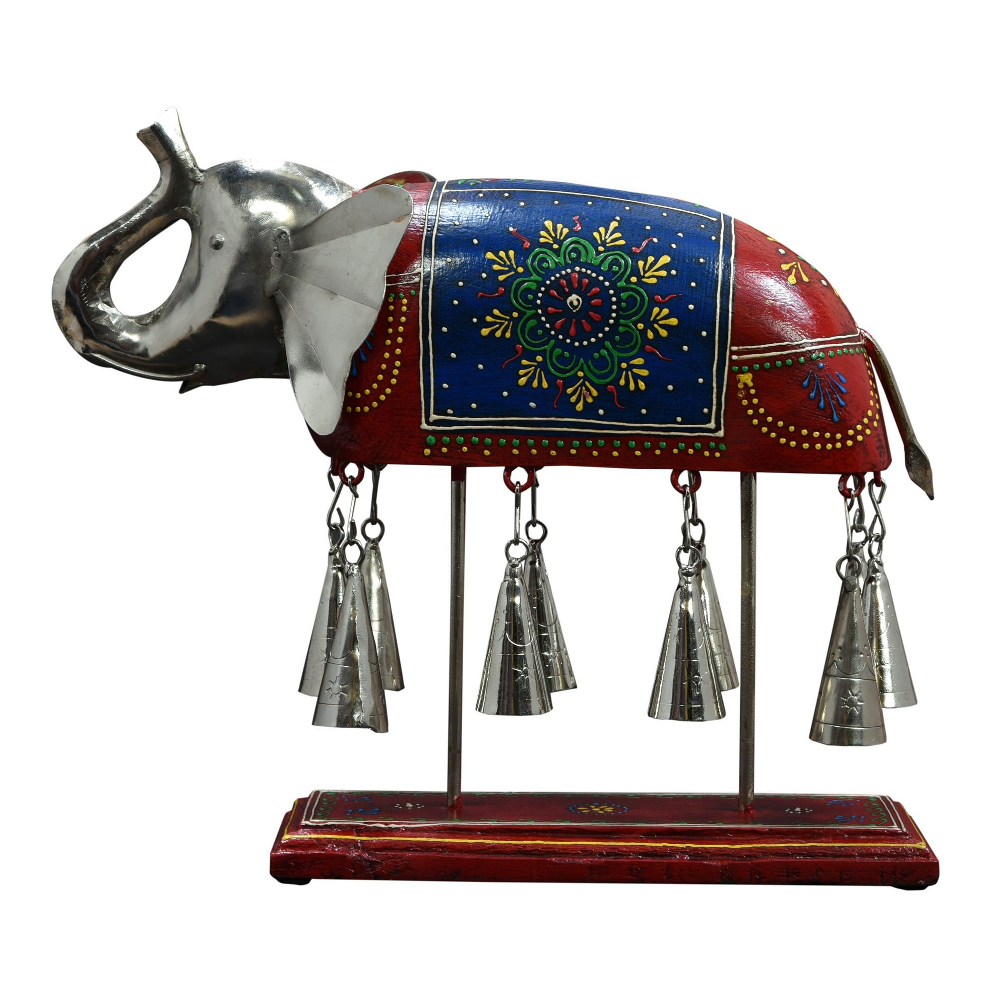 Qurrich Metal & Hand Painted Timber Elephant Table Chime