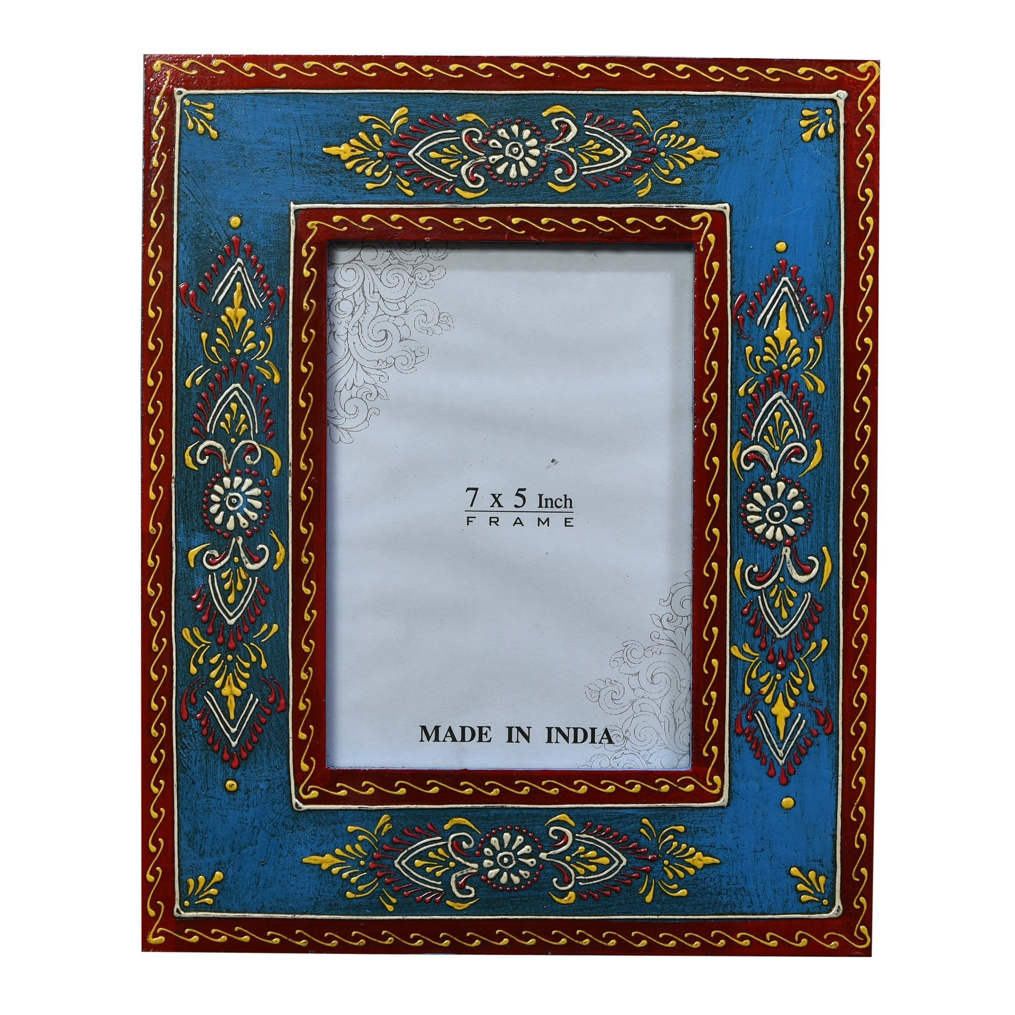 """Sillur Hand Painted Timber Photo Frame, 5x7"""""""